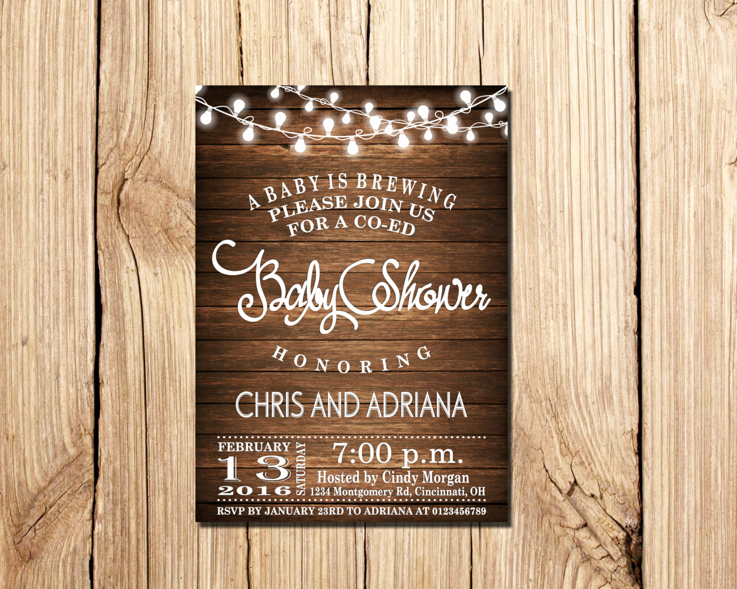 Co Ed Baby Shower Invitation Lovely A Baby is Brewing Baby Shower Invitation Co Ed Baby Shower