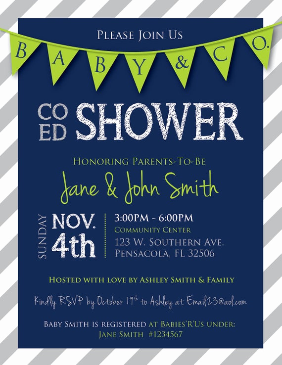 Co Ed Baby Shower Invitation Lovely Unavailable Listing On Etsy