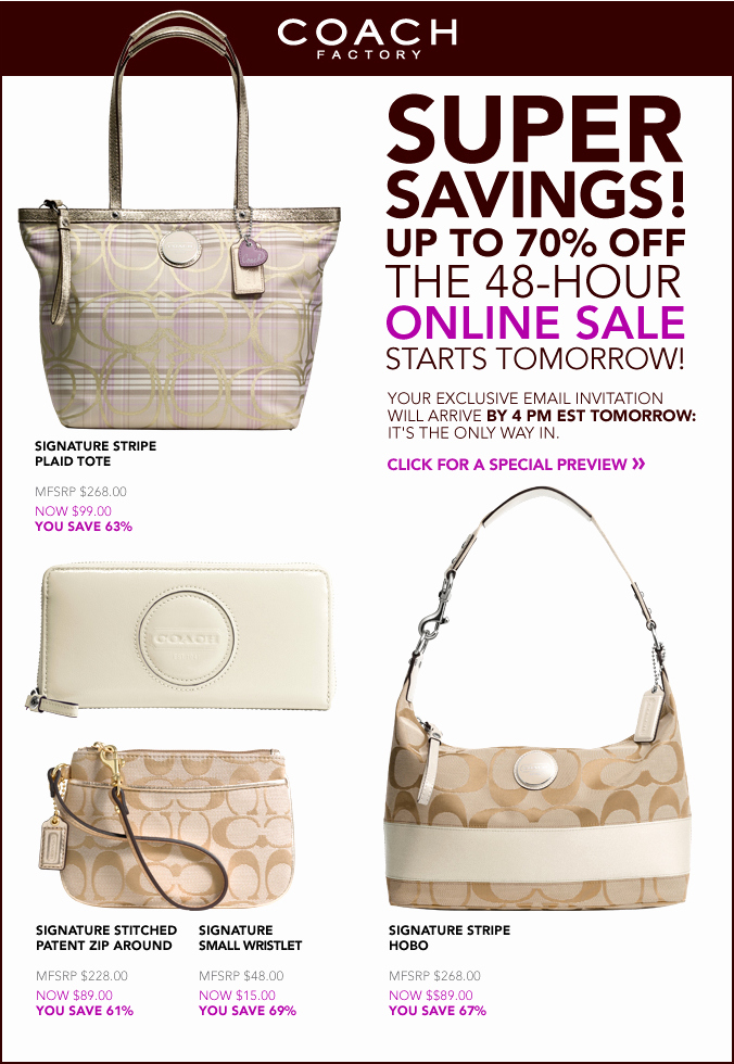 Coach Factory Online Invitation Elegant Shophubusa 48hr Coach Factory Store Line Sale Starts now