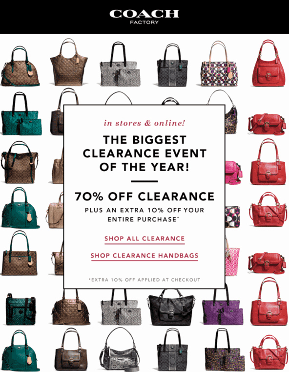 Coach Factory Online Invitation Fresh Coach Factory the 2013 Clearance event Off Clearance