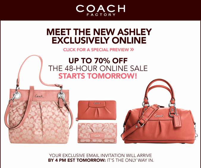 Coach Factory Online Invitation New Shophubusa 48hr Coach Factory Line Sale