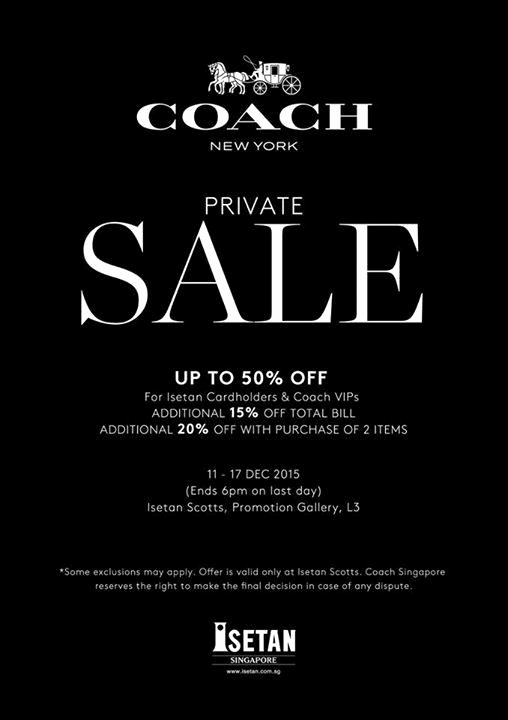 Coach Factory Online Sale Invitation Elegant isetan's Coach Private Sale