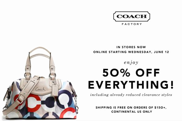 Coach Factory Online Sale Invitation Lovely Shop Summer Sale Fashion Finds Discount Codes Off