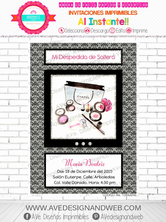 Coco Chanel Invitation Templates Best Of Coco Chanel Invitation Coco Chanel Invitations by