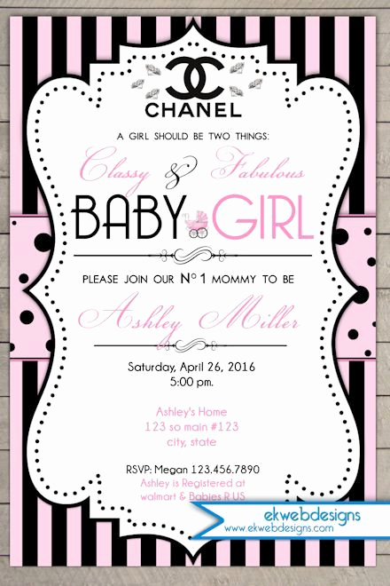 Coco Chanel Invitation Templates Elegant Pinterest • the World's Catalog Of Ideas