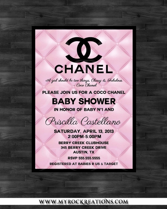 Coco Chanel Invitation Templates New Baby Shower Baby Shower