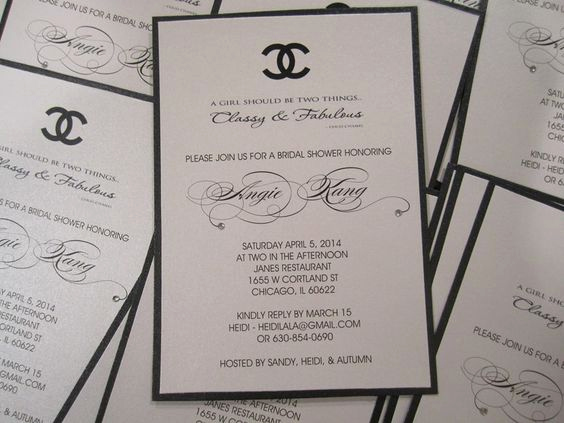 Coco Chanel Invitation Templates Unique Sweet Sixteen Invitations and Sweet On Pinterest