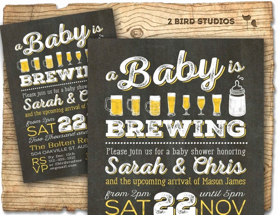 Coed Baby Shower Invitation Ideas Awesome A Baby is Brewing Coed Baby Shower Invitation by 2birdstudios