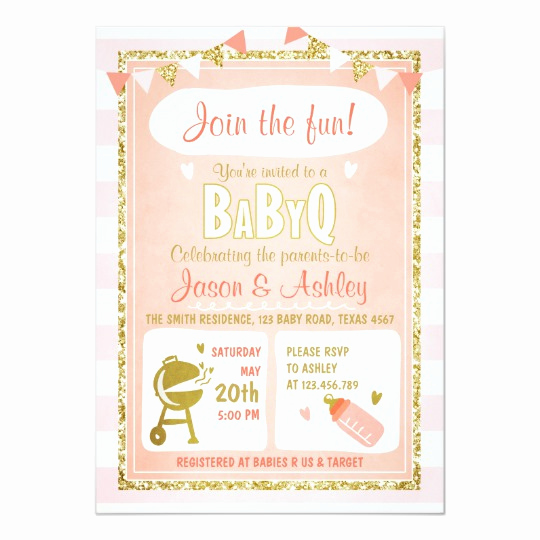 Coed Baby Shower Invitation Ideas Awesome Baby Q Invitation Coed Bbq Baby Shower Invite Pink