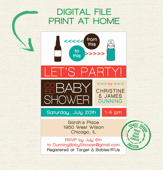 Coed Baby Shower Invitation Ideas Inspirational Coed Baby Shower Invitations Everything You Wanted to