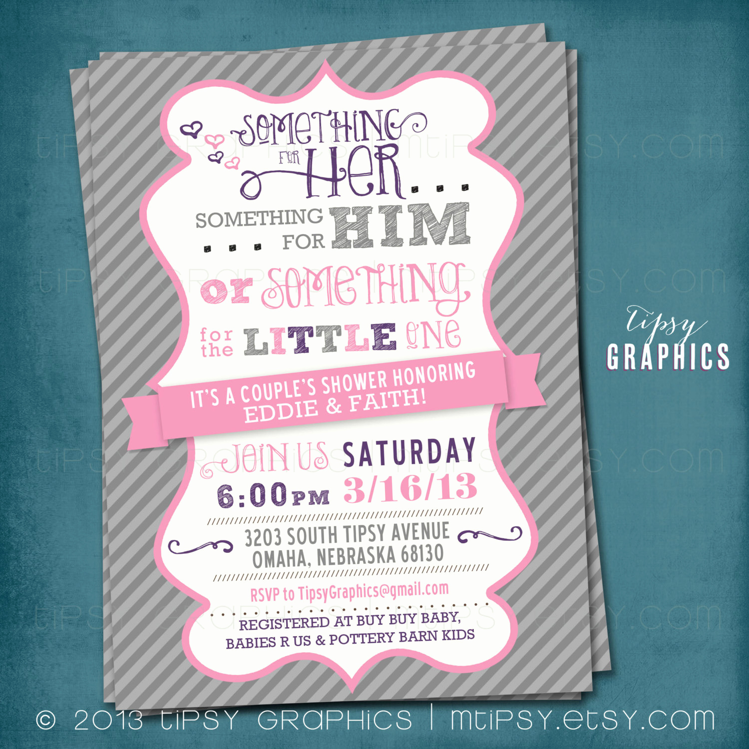 Coed Baby Shower Invitation Ideas Inspirational Coed Couple S Baby Shower Invite Chevron something for