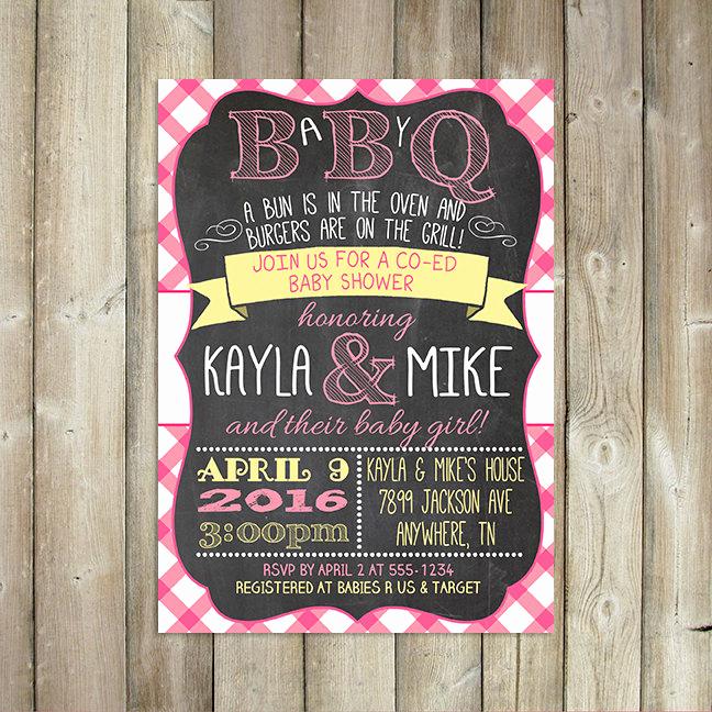 Coed Baby Shower Invitation Ideas Lovely Baby Q Invitation Babyq Baby Shower Invitation Backyard