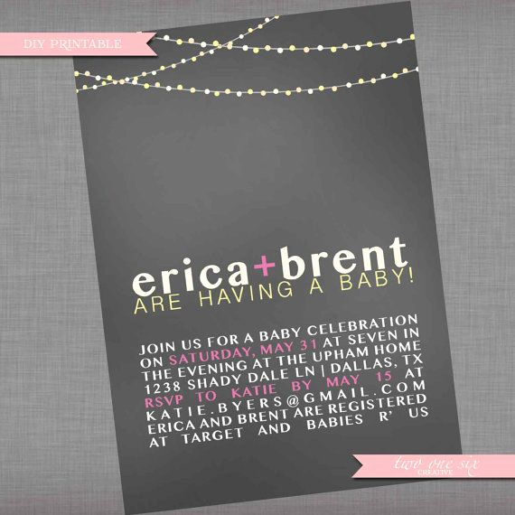Coed Baby Shower Invitation Templates Fresh 17 Best Ideas About Backyard String Lights On Pinterest