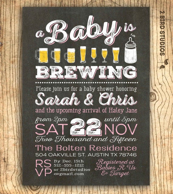 Coed Baby Shower Invitation Templates Unique Coed Baby Shower Invitation Beer Baby Shower Invitation