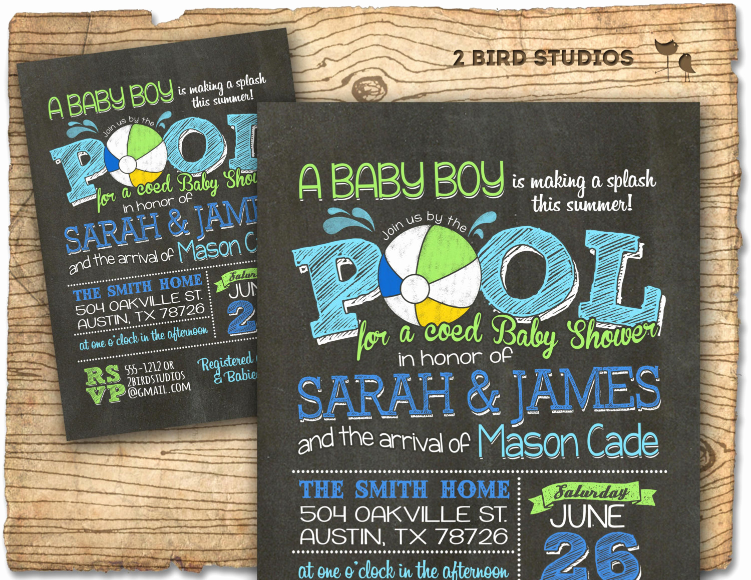 coed baby shower invitation summer baby