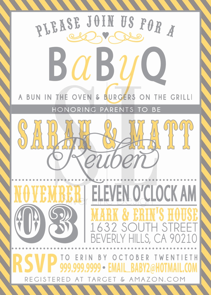 Coed Baby Shower Invitation Wording Unique Couples Bbq Baby Shower Invitation
