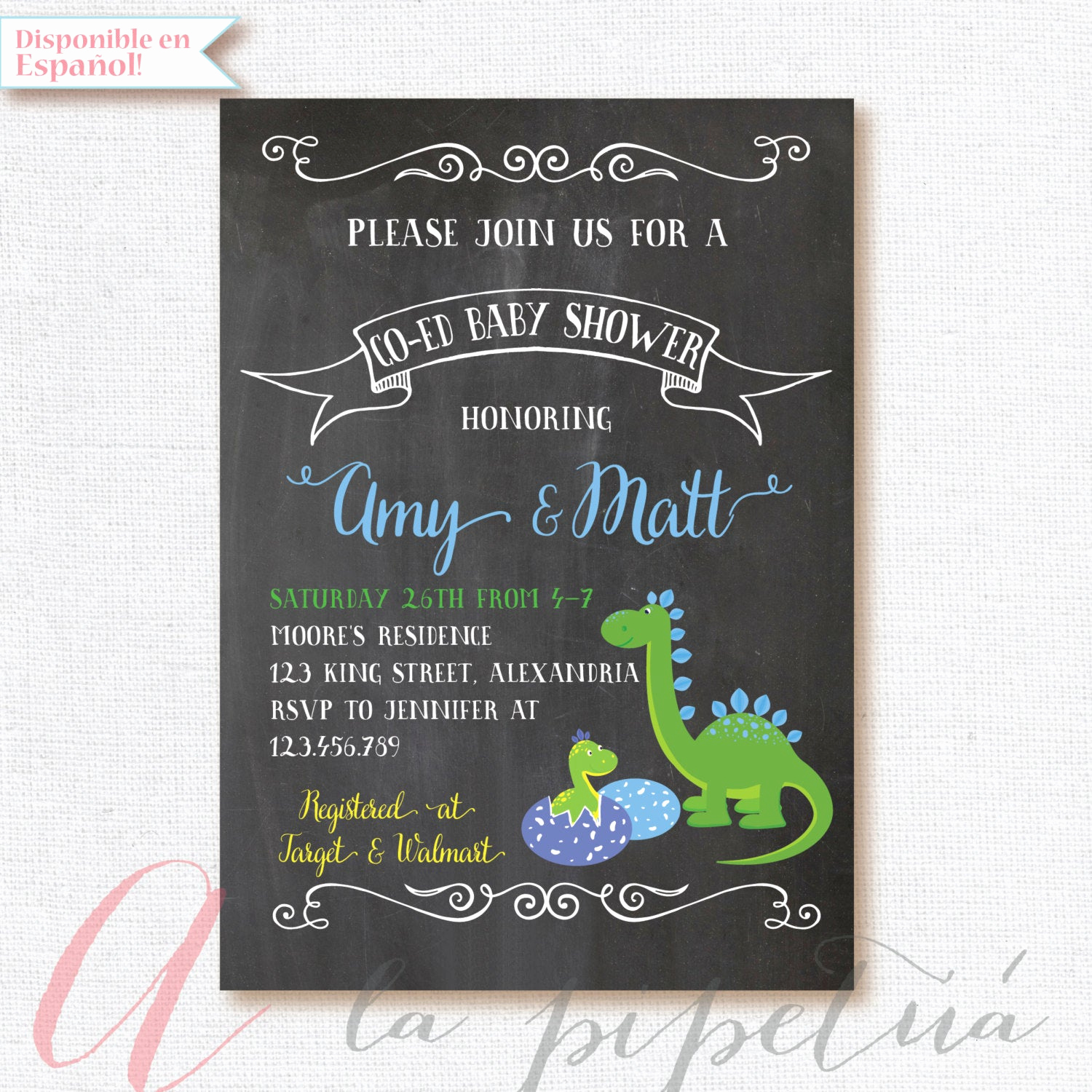 Coed Baby Shower Invitation Wording Unique Dinosaur Baby Shower Invitation Coed Babyshower Dino