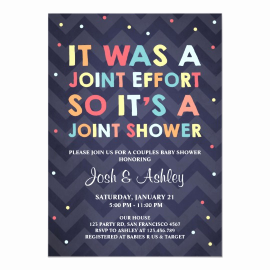 Coed Shower Invitation Wording Beautiful Couples Baby Shower Invitation Coed Shower Joint