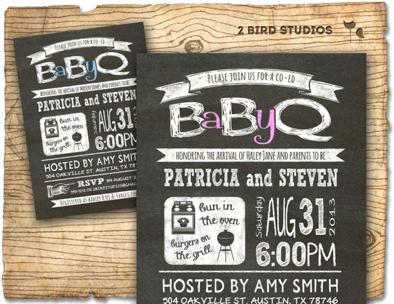Coed Shower Invitation Wording Best Of Baby Q Baby Shower Invitation Coed Baby Shower Invite