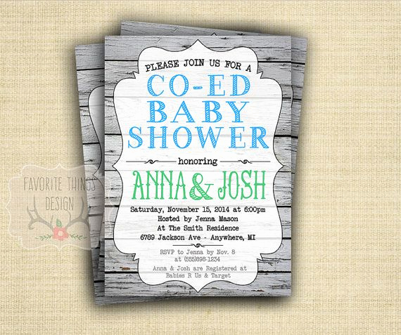 Coed Shower Invitation Wording Best Of Co Ed Baby Shower Invitation Coed Baby Shower Invite