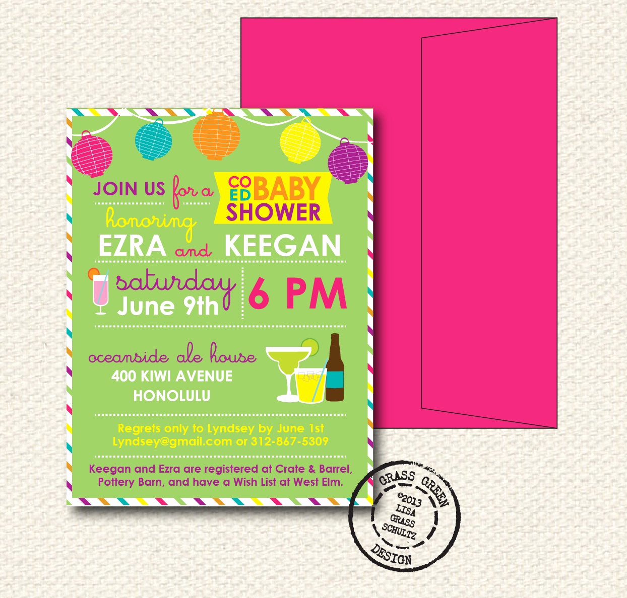 Coed Shower Invitation Wording Lovely Coed Baby Shower Invitation 15 Custom Invitations with