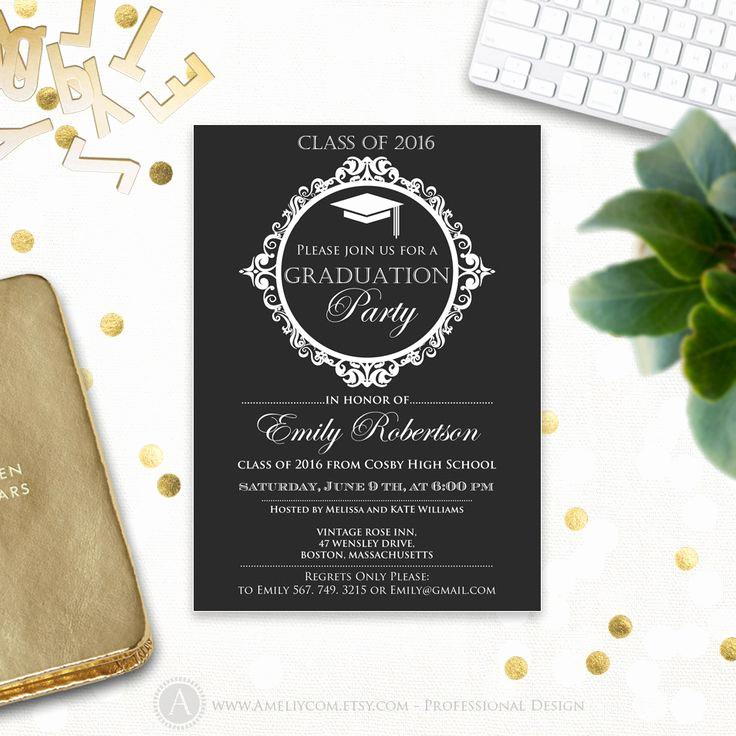 College Grad Party Invitation Beautiful Best 25 College Graduation Announcements Ideas On