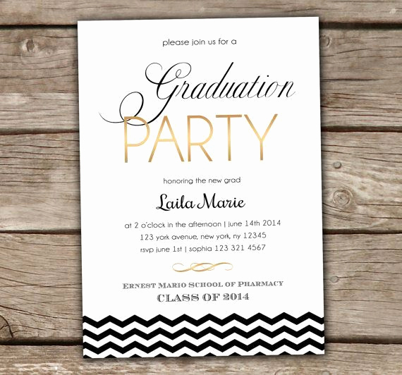 College Grad Party Invitation Elegant Diy Graduation Party Invites