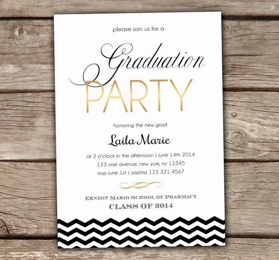 College Grad Party Invitation Elegant Diy Graduation Party Invites