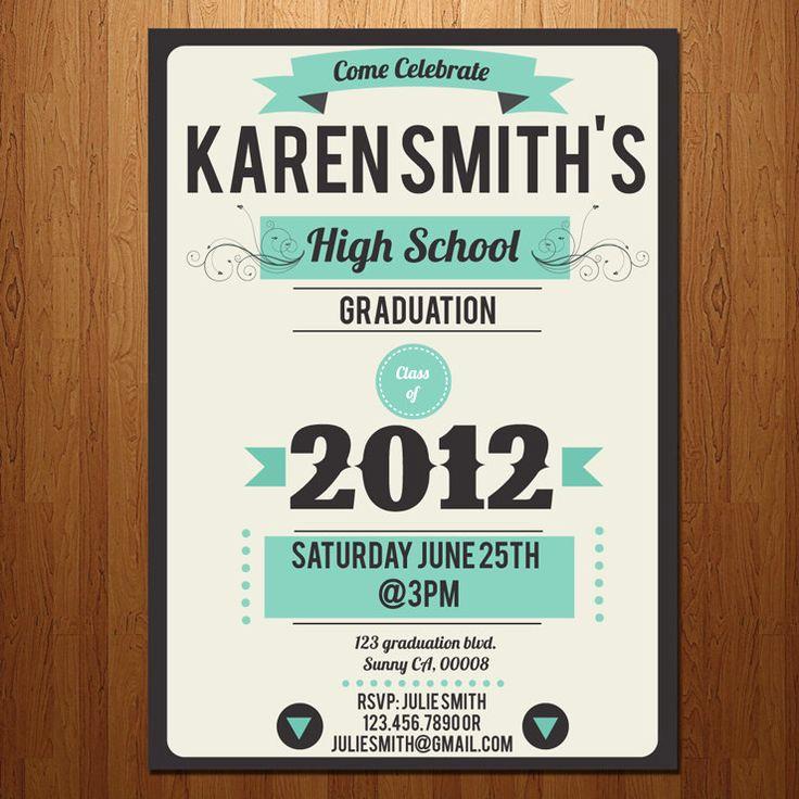 College Grad Party Invitation Fresh 1000 Ideas About College Grad Invites On Pinterest