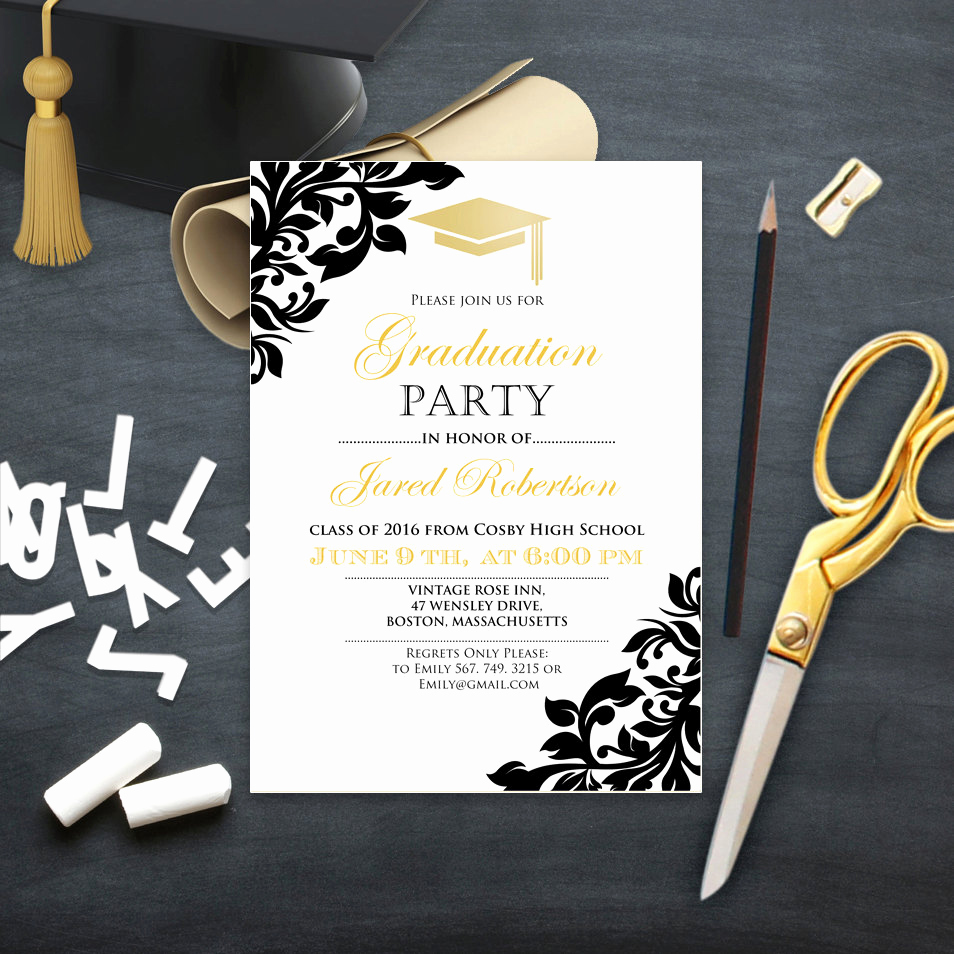 College Grad Party Invitation Lovely Graduation Party Invitation College Printable Template Girl