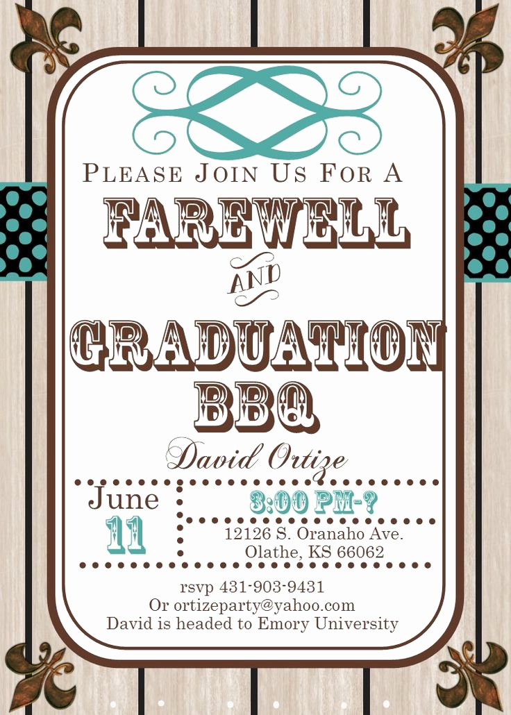 College Grad Party Invitation Luxury Best 25 Farewell Invitation Ideas On Pinterest