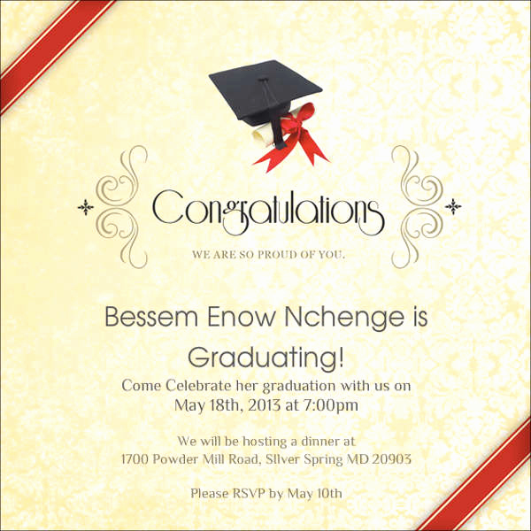 College Graduation Invitation Cards Beautiful 81 Free Invitation Cards Psd Word Ai