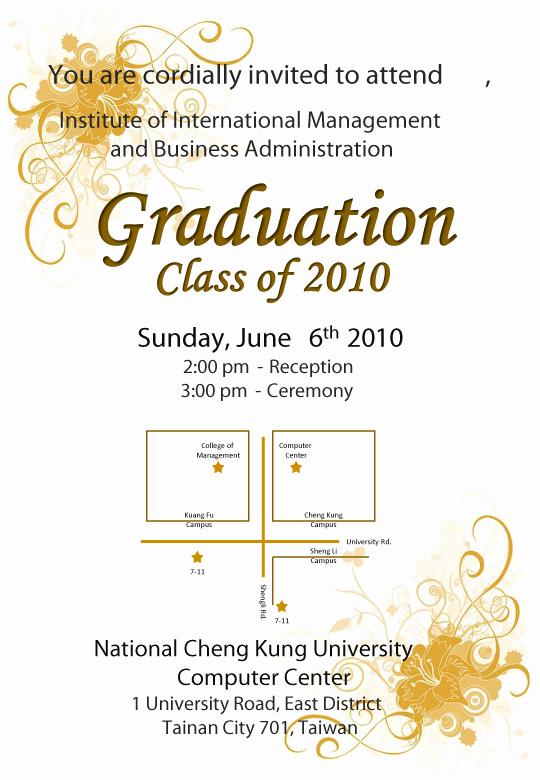 College Graduation Invitation Cards Lovely Invite Advisor to Graduation Ceremony