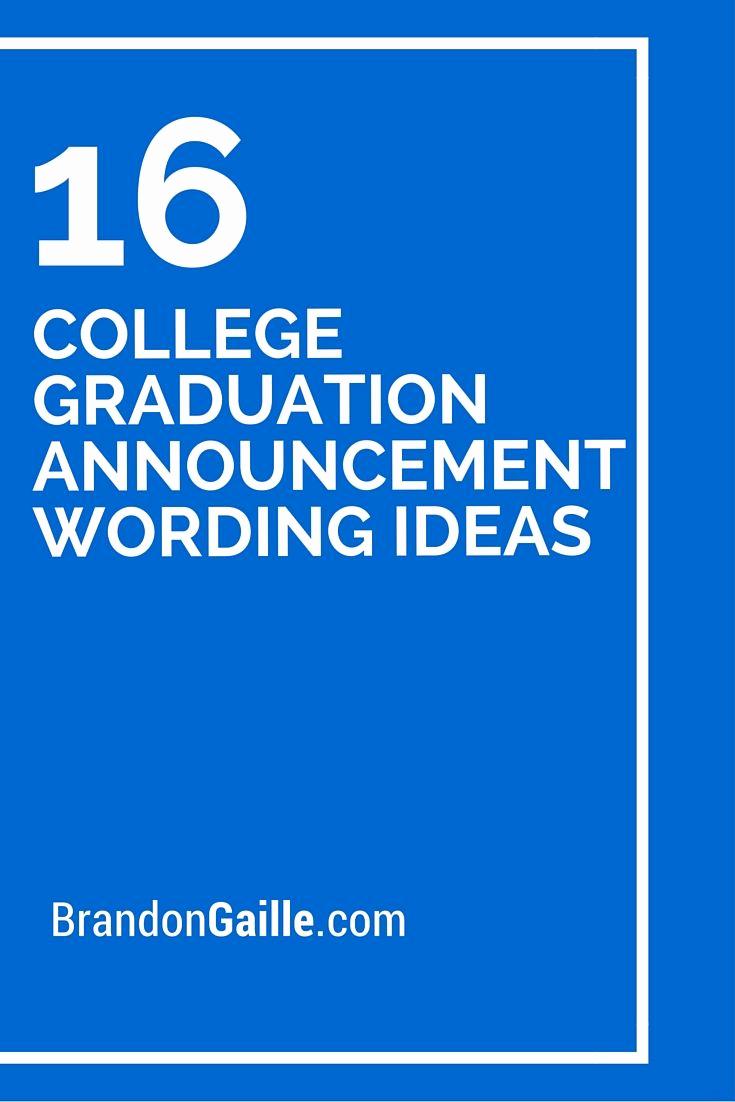 College Graduation Invitation Etiquette Luxury Best 25 College Graduation Announcements Ideas On