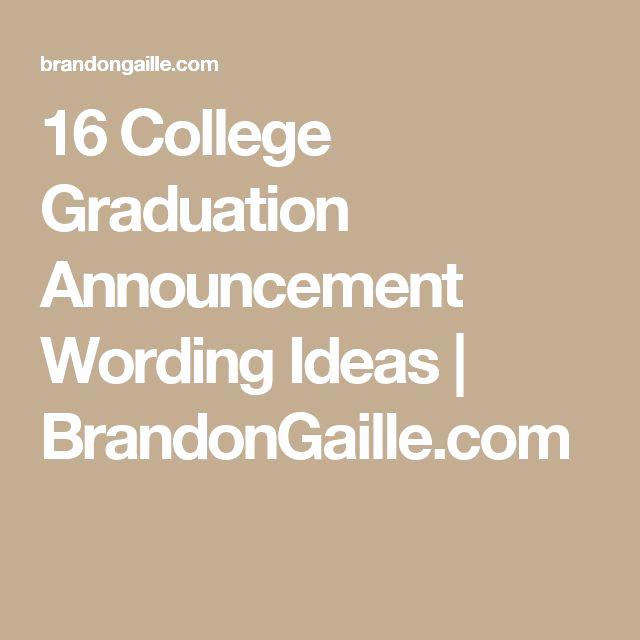 College Graduation Invitation Etiquette New 25 Best Ideas About Graduation Announcements Wording On