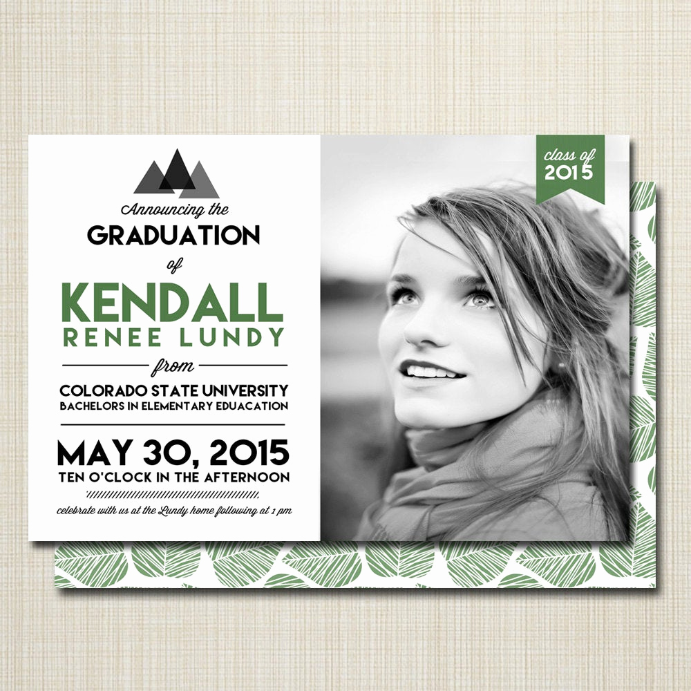 College Graduation Invitation Ideas New Graduation Invitation College Graduation High School