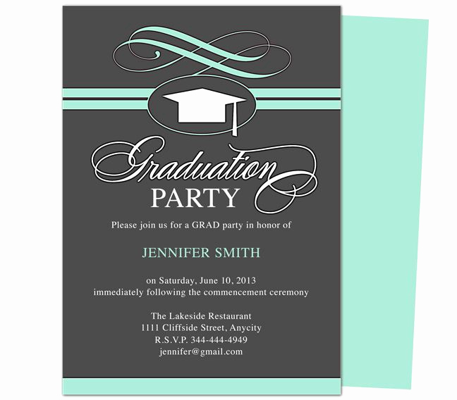 College Graduation Invitation Templates Beautiful Graduation Party Invitation Templates Swirl Graduation