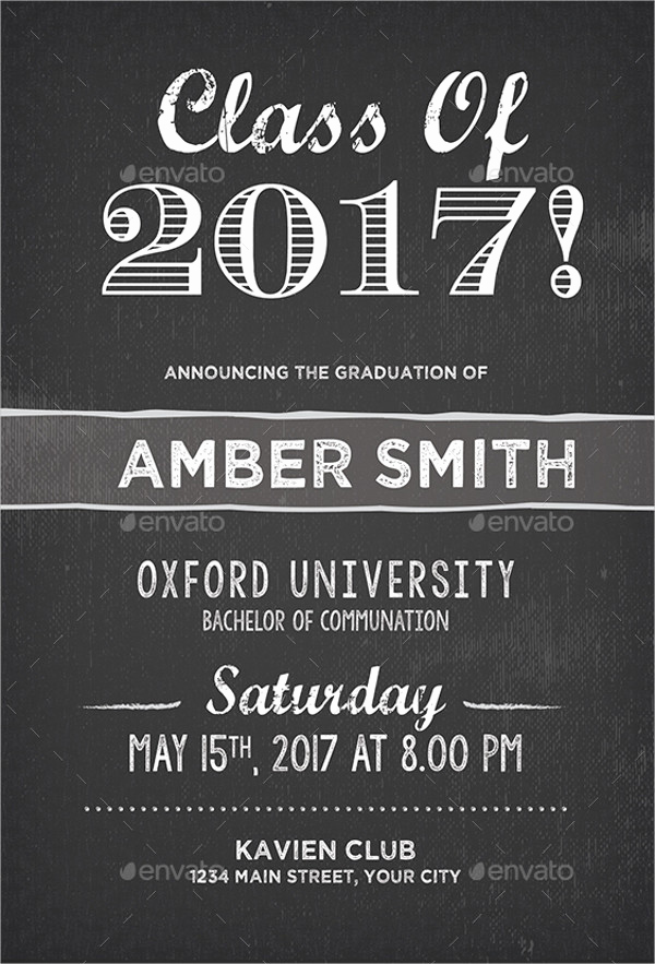 College Graduation Invitation Templates Elegant 31 Examples Of Graduation Invitation Designs Psd Ai