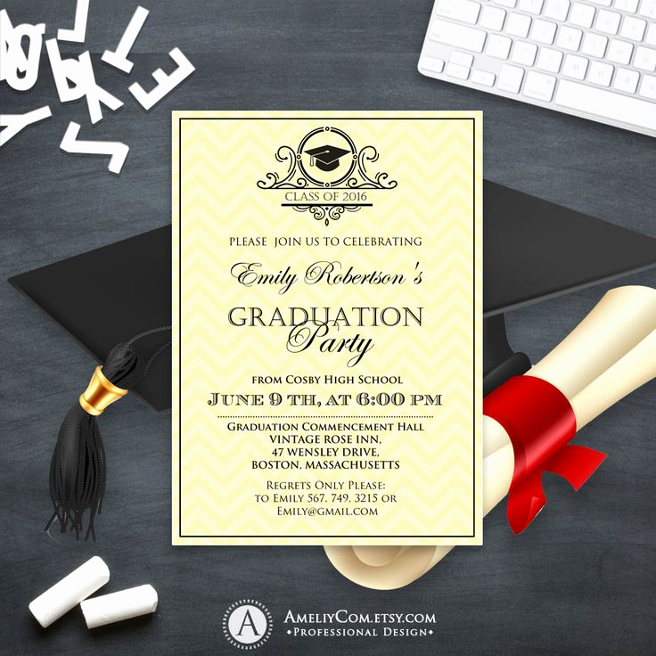 College Graduation Invitation Templates Luxury 25 Best Ideas About High School Graduation Invitations On