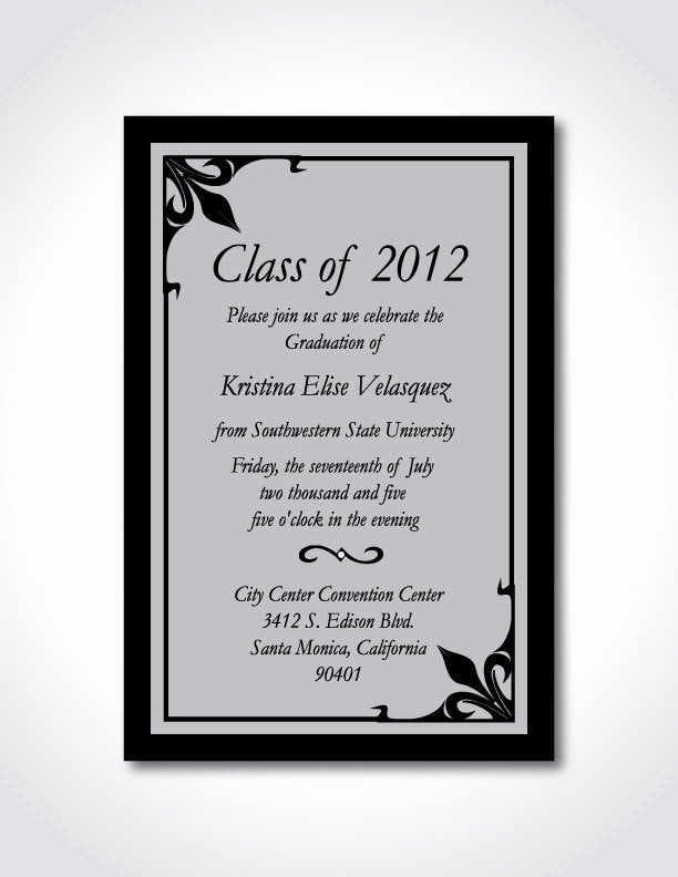 College Graduation Invitation Wording Awesome Etsy Your Place to and Sell All Things Handmade
