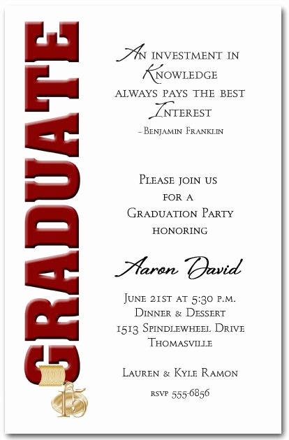 College Graduation Invitation Wording Best Of College Graduation Dinner Invitation Wording