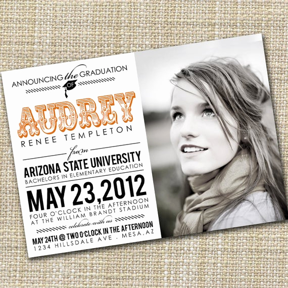 College Graduation Invitation Wording Elegant Items Similar to College Graduation Announcement Senior