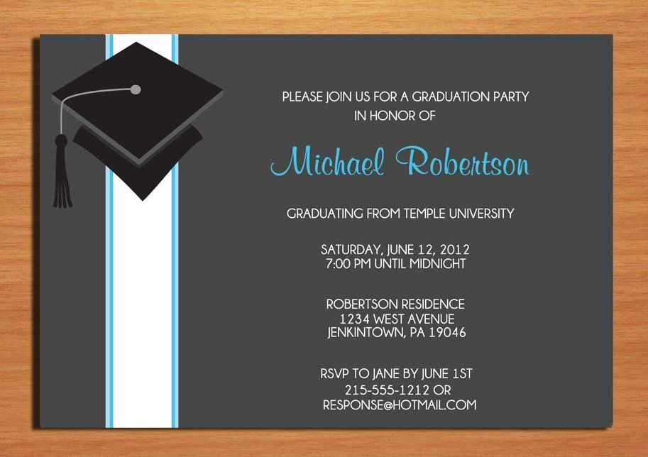 College Graduation Invitation Wording Inspirational College Graduation Party Invitation Wording A Birthday Cake