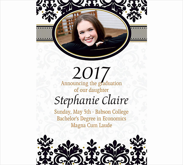 College Graduation Invitation Wording Samples Lovely 42 Printable Graduation Invitations Psd Ai Word