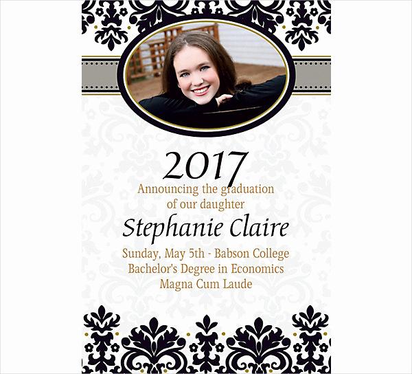 College Graduation Invitation Wording Samples Lovely 42 Printable Graduation Invitations Psd Ai Word