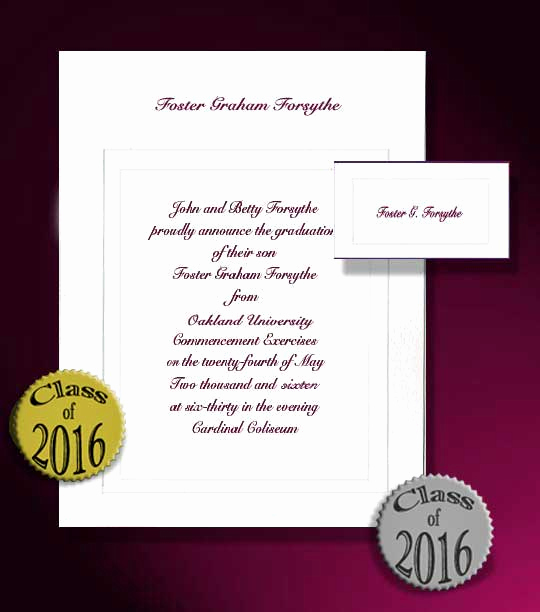 College Graduation Invitation Wording Samples New 8 Best Of Sample Wording College Graduation