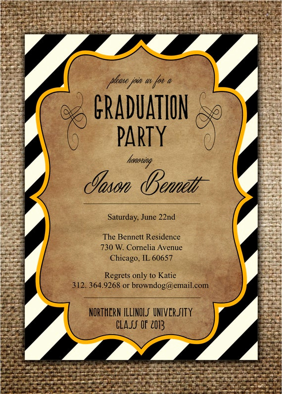 College Graduation Party Invitation Best Of Graduation Party Invitation High School College