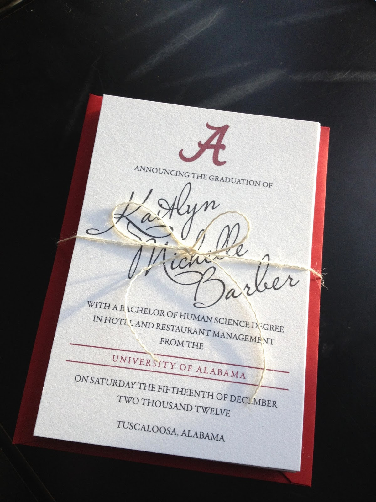 College Graduation Party Invitation Elegant Bellefonte Press Alabama Graduation Announcements