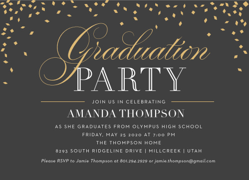 College Graduation Party Invitation Lovely 2019 Graduation Announcements & Invitations for High