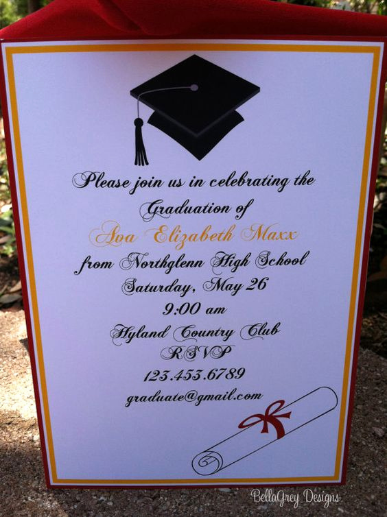 College Graduation Party Invitation Lovely Pinterest • the World's Catalog Of Ideas